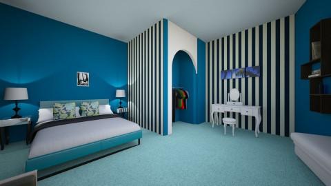 Blue Room - Modern - Bedroom - by rileyjanice76
