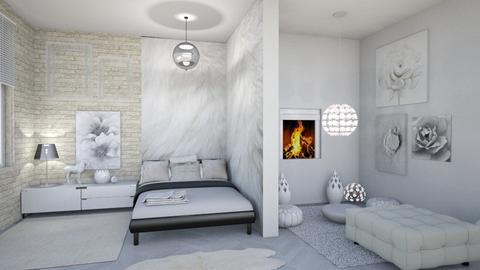 very comfy bedroom - Minimal - Bedroom - by Moonpearl
