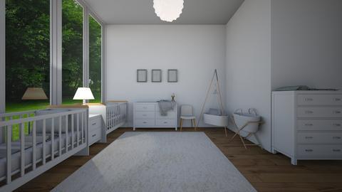 twin girl nursery - Kids room - by joetee