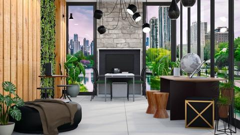 Living Office Wall - Modern - Office - by millerfam