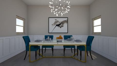 Blue Chairs - Minimal - Dining room - by Meredith Crummey