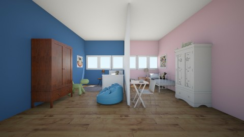 shared kids room - Modern - Kids room - by Madelyn Kitteridge
