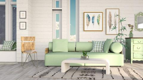 green - Living room - by its_eima