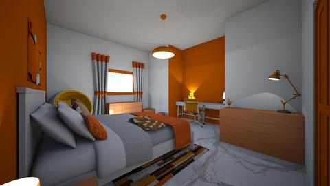 orange sherbet bd and of  - Modern - Bedroom - by jade1111