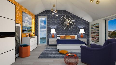 M_ OrangeBlue Br - Bedroom - by milyca8
