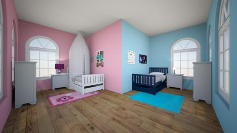 Boy and Girl Bedroom - Bedroom - by JPikel54