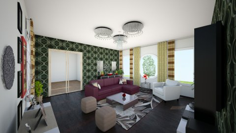 first time - Living room - by _one_only_