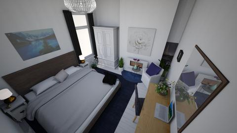upper bed blue view - Bedroom - by macdebdesign