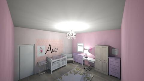 baby girl bedroom - by AvaHug