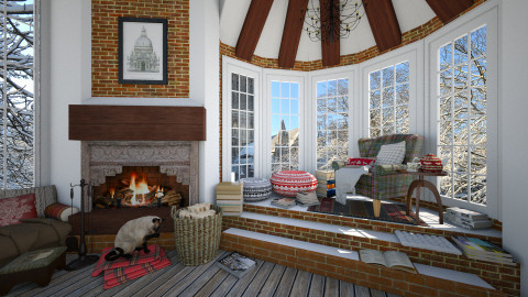 Winter - Rustic - Living room - by maja97