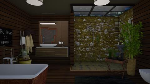 Dark bathroom - Bathroom - by The quiet designer
