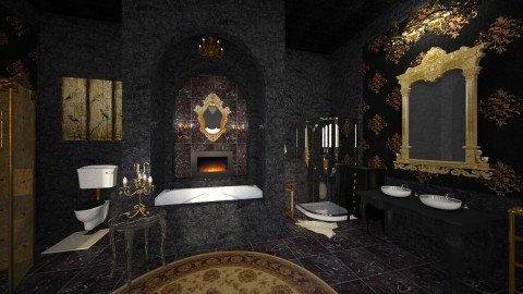 Black Marble - Classic - Bathroom - by Pirschjaeger