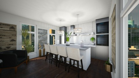 Design 15_Kitchen - Eclectic - Kitchen - by spencethewhovian