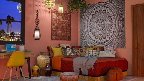 Moroccan Boho - Bedroom - by lovedsign