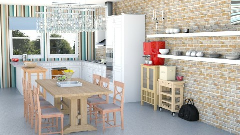 big family kitchen - Kitchen - by Franco Juliano Tan