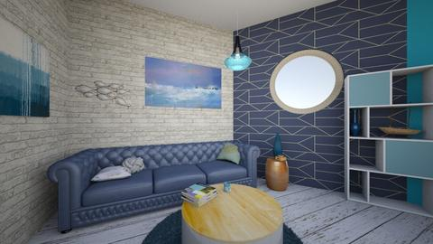 Fishy blue - Living room - by seahorsesteph
