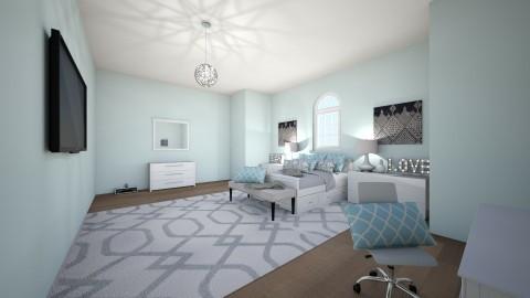 Blue bedroom - Bedroom - by keelino9