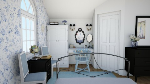 Shabby Chic _ White and B - Vintage - Bedroom - by ANM_975
