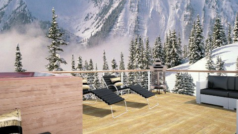 Terrasse vue montagne - by amandine evieux