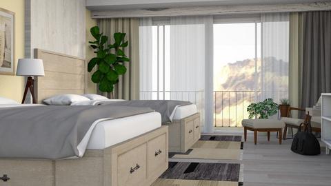 Light Hotel Room - Modern - Bedroom - by millerfam