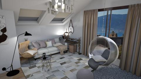 Podkrovlje I - Minimal - Living room - by Daria Marienko