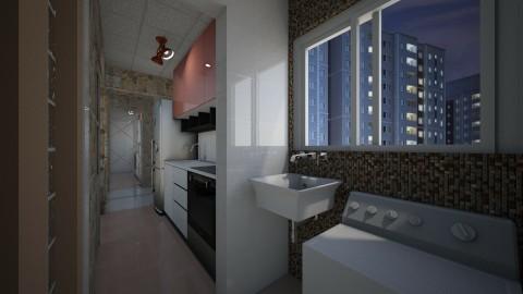 Apto Quarto Sala Casal - Modern - Kitchen - by Mariesse Paim