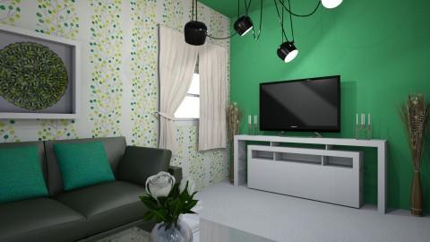 salon bleu et vert - Modern - Living room - by melanie99