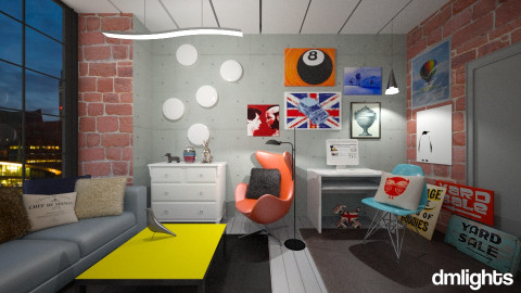 Student In London - Living room - by DMLights-user-1042262