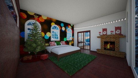 christmas bedrooom - by Drawing with lil