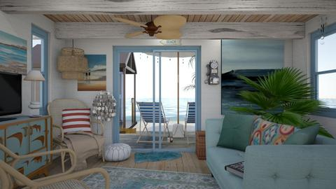 Small Beach Hut - Rustic - Living room - by HenkRetro1960