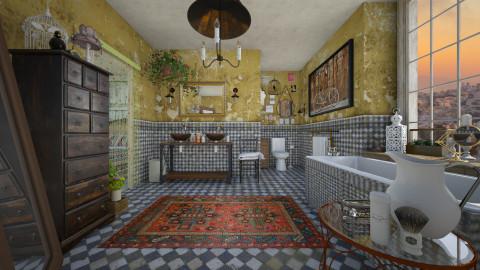 Bohemian Bathroom1 - Retro - Bathroom - by Nufra