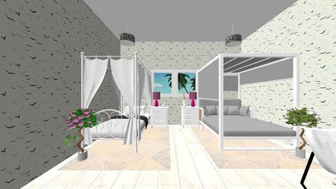 Sis to sis bedroom - Feminine - Bedroom - by NvmIdk