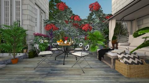 Terrace - Classic - Garden - by Ali Ruth