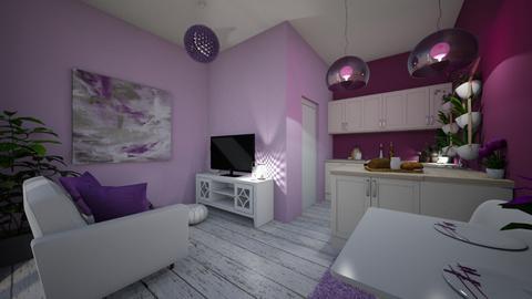 Purple living room - Modern - Living room - by Denisa250