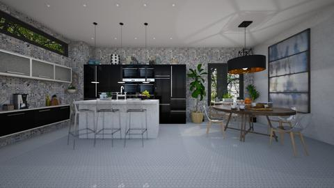 Mod Playful Kitchen - Kitchen - by Anjuli