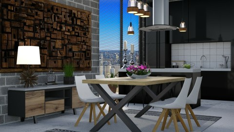 Condo REDESIGNED  - Kitchen - by meggle