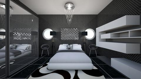 Modern Black bedroom - Modern - Bedroom - by Magdalenaska