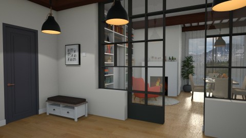 through the glass - Living room - by Inokentijroom