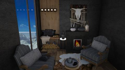 Fireplace Room - Modern - Living room - by Daria Marienko