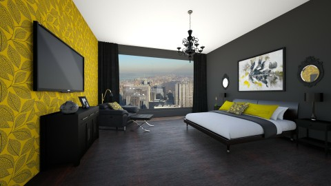 Urban Retreat - Bedroom - by Jeannetta Janssen