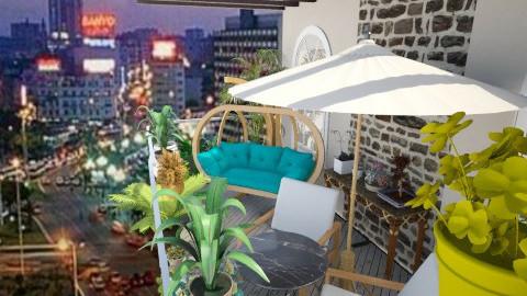 Balcon - Glamour - Garden - by Hanane Haidoune