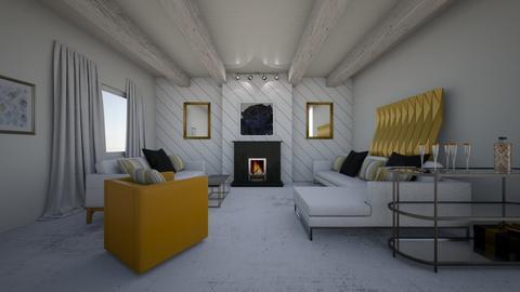 Black and white modern  - Living room - by Deasye