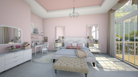 glamorous  - Glamour - Bedroom - by Ali Ruth