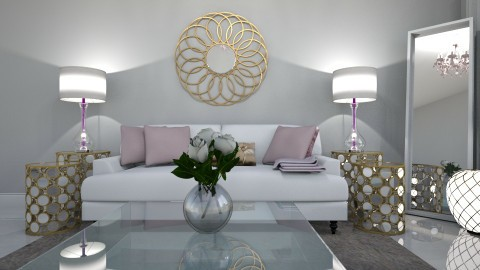 White Glam - Living room - by AshleyLabxtchh