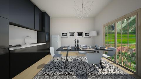 blue and black  - Modern - Kitchen - by jana krstic