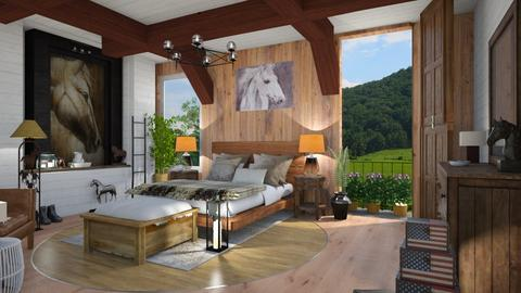 Horselover Bedroom - Country - Bedroom - by Sue Bonstra