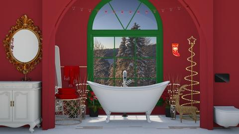 Christmas Bath - Bathroom - by Aymee Estrella