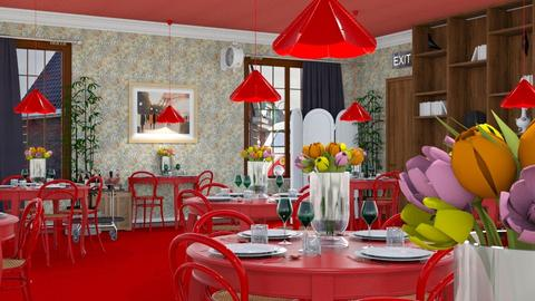 Red Bistro - Classic - Dining room - by HenkRetro1960