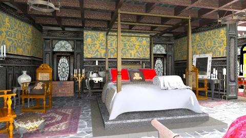 Medieval master bedroom - Classic - Bedroom - by XValidze