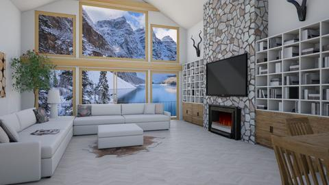 Aspen Chalet - Eclectic - Living room - by Theadora